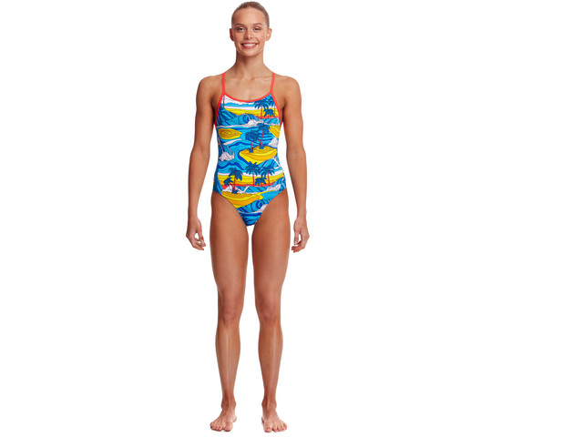 Funkita Eco Diamond Back One Piece Swimsuit Girls, beach bum